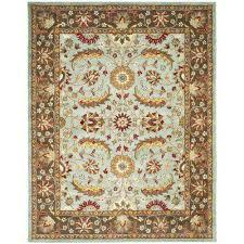 heritage blue brown 9 ft x 12 ft area rug