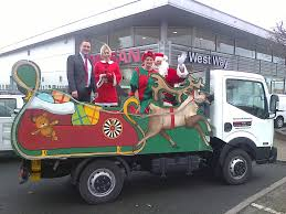 west way nissan stourbridge helps bewdley round table with a santa s sleigh
