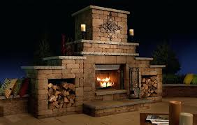 outdoor gas fireplace kits outdoor gas wood fireplace grand with optional wood storage outdoor gas fireplace