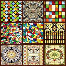 faux stained glass window decorative windows custom wardrobe doors church