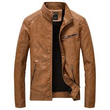 leather jackets men pu casual thick coats yellow 4xl