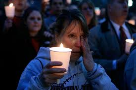 scenes of grief and mourning in the wake of school shootings msnbc  shootings at marty van hook of woodbridge va whose son is a senior at