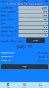 Pay Loan Calculator Car Loan Calculator Iphone App Review