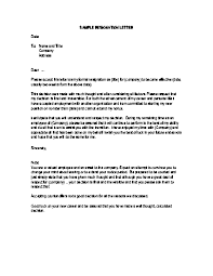 good letter of resignation 6 template of a notice letter notice letter