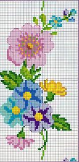 Mini Cross Stitch, Beaded Cross Stitch, Cross Stitch Borders, Cross Stitch  Flowers, Cross Stitching, Cross Stitch Patterns, Bead Loom Patterns,  Crossstitch, ...