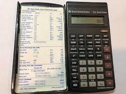 Financial Calculator Vintage Texas Instruments Ba Real Estate Financial