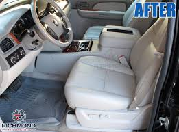 2007 2016 chevy avalanche lt z71 ltz leather seat cover driver bottom tan