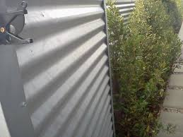 solid metal fence. Zincalum Fence · - Corrugated Metal Solid