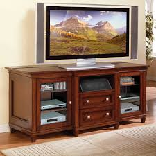 Flat Screen Tv Console Brown Mahogany Wood Flat Screen Tv Stand With Storage Drawers Of