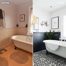 bathroom makeover spilt