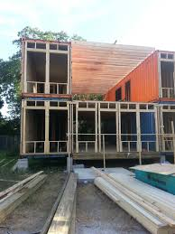 Homes Built From Shipping Containers Front Before Facade I Built A Shipping Container Home Tiny