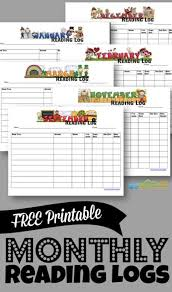 First Grade Reading Log Free Printable Monthly Reading Logs 123 Homeschool 4 Me