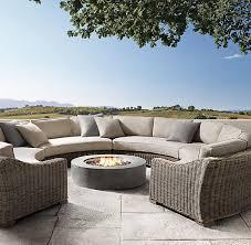 curved modular outdoor seating astounding circular outdoor furniture at curved modular rattan garden set 9 piece 1 999 00 del mar curved modular outdoor