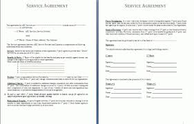 Sample Service Agreements Fascinating Sample Service Contract Agreement Template Unique Contract Agreement