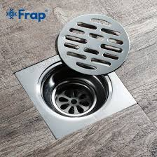 frap square floor drain waste grates bathroom shower drain bathroom deodorant waste drain strainer cover stainless