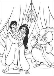 Disegno Di Aladdin Jasmine E Il Sultano Da Colorare Disegni Da