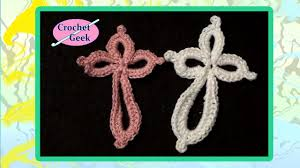 Crochet Cross Pattern Delectable How To Make Crochet Cross Fast Quick English Subtitles Translations
