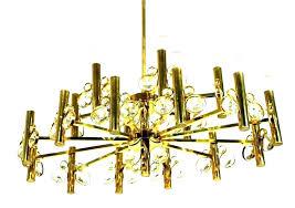 gold foil chandelier chandeliers fringe projects layer cake metallic la gold foil chandelier