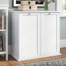 Laundry furniture White Wayfair Beachcrest Home Cabinet Laundry Hamper Reviews Wayfair