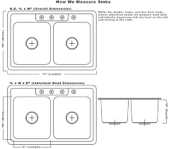 kitchen sink dimensions. Chic Double Bowl Kitchen Sink Sizes Undermount Sinks Dimensions B