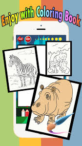 Small Picture Zoo animals Coloring Book Move finger to draw these coloring