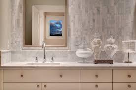 marble backsplash tile makes bathroom and kitchen look marvelous