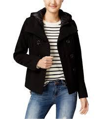 american rag womens hooded pea coat