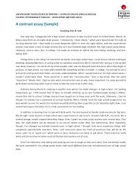 Comparative And Contrast Essay Topics Example Of Contrast Essay Examples Of Comparison Essays Example Of