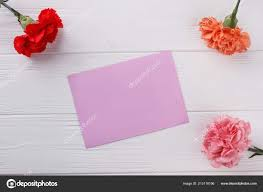 Paper Carnation Flower Blank Purple Paper And Carnation Flowers Stock Photo Denisfilm