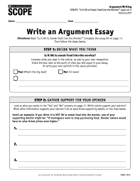 what is a argument essay argument essay thesis what is an  using the debate essay kit to practice argument writing scope a pdf of this lesson plan