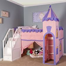 Kids Bedroom Sets With Desk Bed And Desk In Room Imanada Furniture Pink Violet Princess Loft