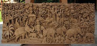 Beautiful Wall Art Designs Wood Carved Wall Art Eak Wood Hand Carved Wood With Regard  To Attractive Household Carved Wooden Artwork Wall Decoration Prepare