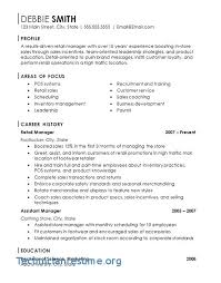 Assistant Store Manager Resume Enchanting Assistant Store Manager Resume Retail Store Manager Resume Sample
