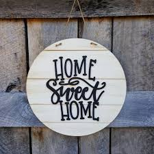 home sweet home wooden sign door hanger wreath wall hanging shiplap sign farmhouse sign