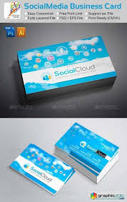 Social Cloud Social Media Business Cards Free Download