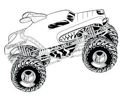 Monster Truck Coloring Pages Grave Digger Blaze Colouring To Print