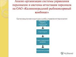 Презентация на тему Курсовая работа на тему АТТЕСТАЦИЯ ПЕРСОНАЛА  8 Анализ организации системы управления персоналом и системы аттестации