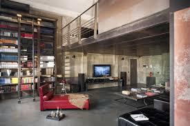 polished concrete floor loft. Manly-apartment-decor-with-chaise-lounge-sofa-and- Polished Concrete Floor Loft