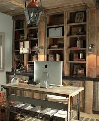 home office designs wooden. Design Ideas. Rustic And Industrial Home Office: Treatment Appearances Approach. Entrancing Office Designs Wooden