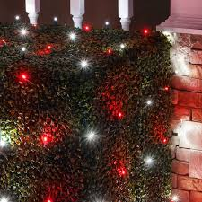 Net Lights For Bushes Red And White Candy Cane Themed Net Lights Produce Quick