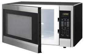 sharp 1 1 cu ft 1000w sharp stainless steel carousel countertop microwave oven r