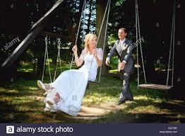 Married couple in swing