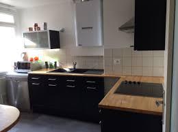 Cuisine Blanche Plan De Travail Noir Bois Gris Granit Avec Year Of