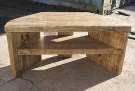rustic wood tv stand corner