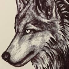 водостойкая временная татуировка волк