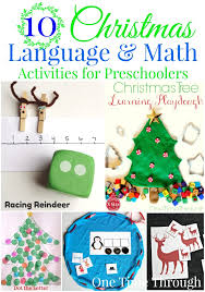 Otherwise, phonetic symbols may not display correctly. 10 Christmas Language And Math Activities For Preschoolers One Time Through