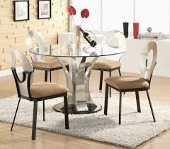 modern round gl dining table dining chairs because stunning dining room decoration