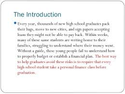 persuasive essay 2 the introduction every year thousands of new high school graduates