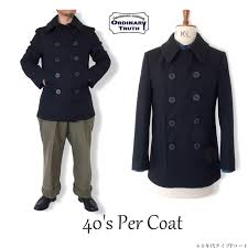 pea coat p coat navy melton coat half coat 40s vintage ww2 type men winter clothing ordinary truth