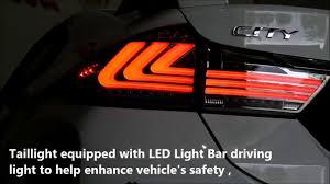 Honda City Lexus Led Light Bar Tail Lamp 2014 2017 Youtube